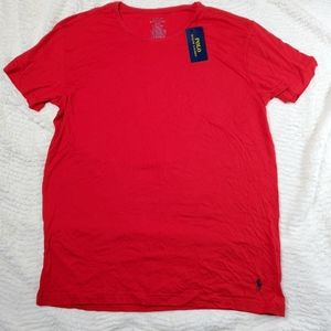 New Polo Ralph Lauren Size L Red T Shirt Stretch